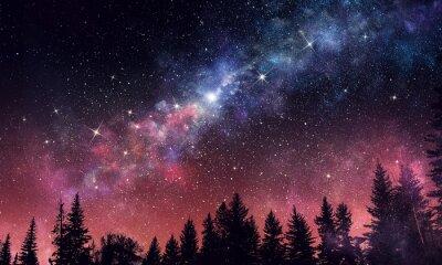 Fototapeta Stará jasná noční obloha. Smíšená média