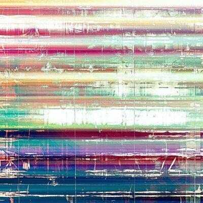 Fototapeta Staré abstraktní grunge pozadí, ve věku retro texturu. S různými barevnými vzory: žlutá (béžový); růžový; modrý; bílý; zelená
