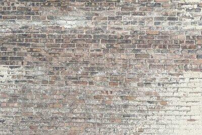 Fototapeta Staré červené cihlové zdi s bílou barvou pozadí textury