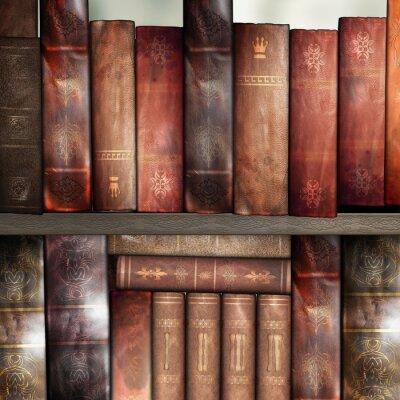 Fototapeta Staré knihy, knihovna