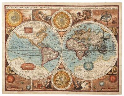Fototapeta Staré mapy (1626)