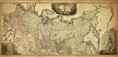 Fototapeta Staré mapy z Ruska, vytištěné v roce 1786