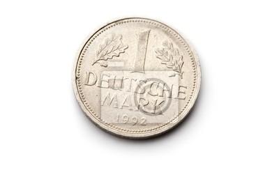 3f6c4ec27 Staré německé mince izolovaných na bílém pozadí fototapeta ...