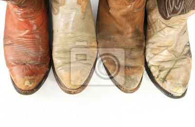Staré nosí kovbojské boty prsty fototapeta • fototapety cowgirls ... c18d62d398