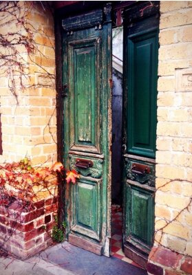 Fototapeta staré otevřené dveře