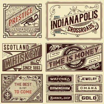 Fototapeta Staré reklamní motivy - Vintage ilustrační