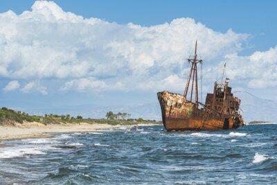 Fototapeta Staré rustikální velká loď