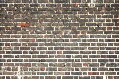 Fototapeta Staré velké zvětralý nouzi červené cihlové zdi na pozadí