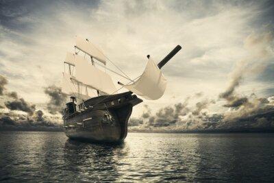 Fototapeta Starověké lodi v moři