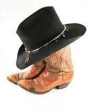 Staré kovbojský klobouk s lanem fototapeta • fototapety slaňování ... 505892d932