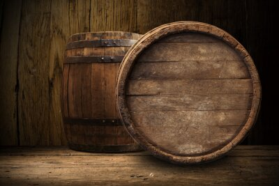 Fototapeta starý dřevěný sud