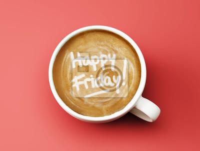 Šťastný pátek Coffee Cup Concept