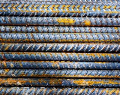 Fototapeta Staveniště - Background tyče oceli