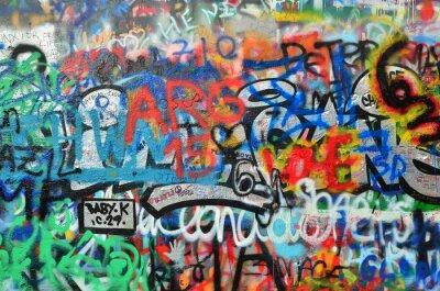 Fototapeta stěna postříkány graffiti