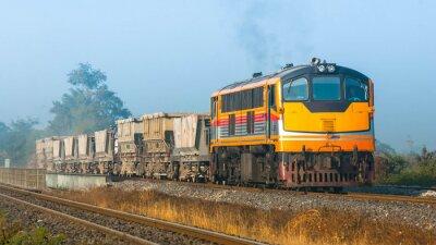 Fototapeta Štěrk ze železničního svršku vlak na venkovské oblasti, 2013. (převzato forma boční veřejné silniční).