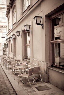 Fototapeta Stoly a židle v kavárně