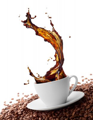 Fototapeta stříkající káva