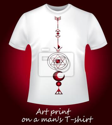 Fototapeta Stylové pánské tričko s potiskem. Styl a móda. Kreativní tisk -  geometrie. a174bf0e24