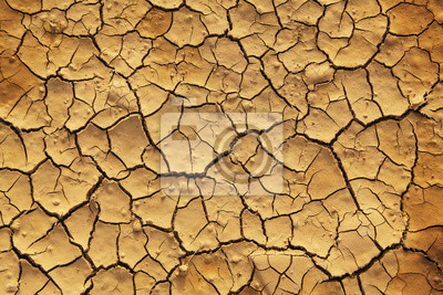 Fototapeta Suché popraskané země