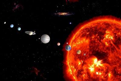 Fototapeta Sun System, Prvky jsou vybaveny NASA