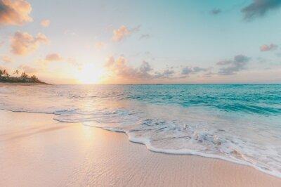 Fototapeta sunset on the beach
