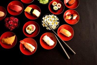 Fototapeta Sushi s chryzantém