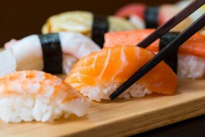 Fototapeta Sushi set, japonské jídlo