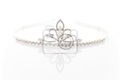 Svatební čelenka s krystaly fototapeta • fototapety přílba 9a58e83d93