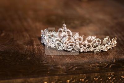 Svatební koruna diadém diadém. luxusní doplňky fototapeta ... ab37baa818