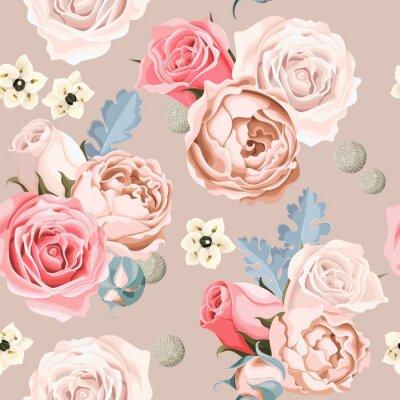 Fototapeta Svatební květiny bezešvé