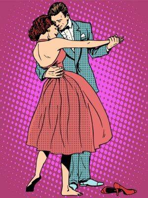 Fototapeta Svatební milovníci taneční mužem a ženou