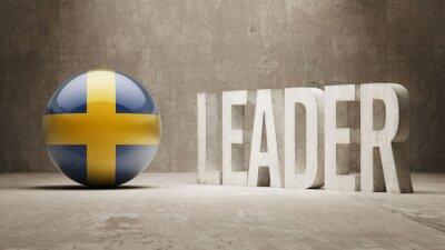 Fototapeta Švédsko. Leader Concept.