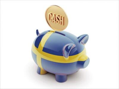 Fototapeta Švédsko Piggy Concept