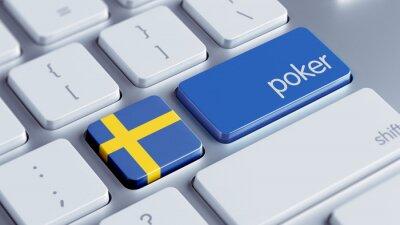 Švédsko poker Concept