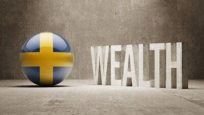 Švédsku. Bohatství Concept.