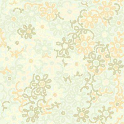 Fototapeta Světlo květinové heřmánek retro vinobraní bezešvé vzor. Šablona