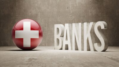 Švýcarsko. Banky Concept