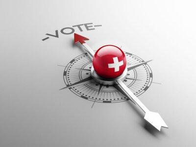 Švýcarsko Hlasovat Concept