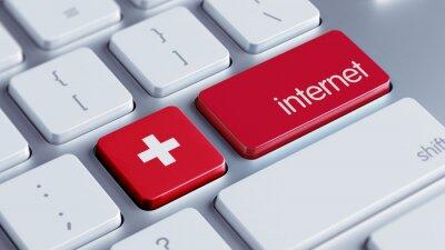 Švýcarsko Internet Concept