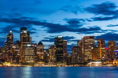 Fototapeta Sydney Central Business District v noci
