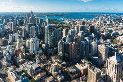 Fototapeta Sydney Central Business District ze vzduchu