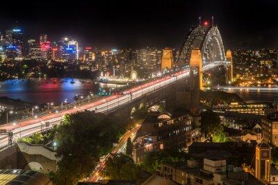 Fototapeta Sydney Harbour Bridge v noci