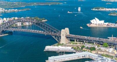Fototapeta Sydney Harbour. Ohromující letecký pohled za slunečného dne