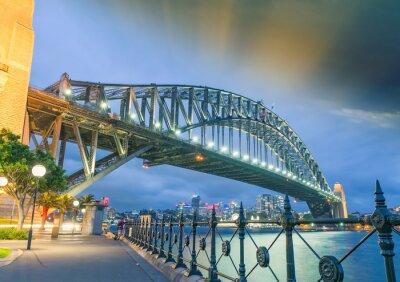 Fototapeta Sydney, Nový Jižní Wales. Úžasný západ slunce pohled na Harbour Bridge