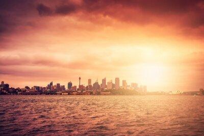 Fototapeta Sydney panorama při západu slunce