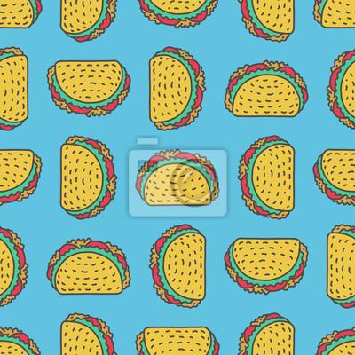 Taco Kresleni Pozadi Mexicke Rychle Obcerstveni Jidlo Z Mexickeho