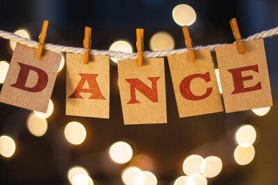 Fototapeta Tanec Concept připnutý karty a světel