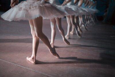 Fototapeta Tanečníci v bílé tutu synchronizované tance