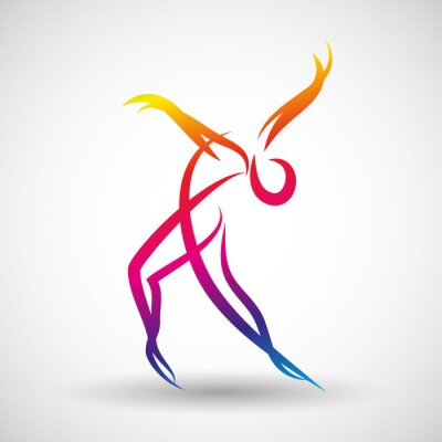 Fototapeta taniec logo Wektor