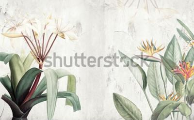 Fototapeta Tapeta na plochu Amazon Green Tropical Leaves